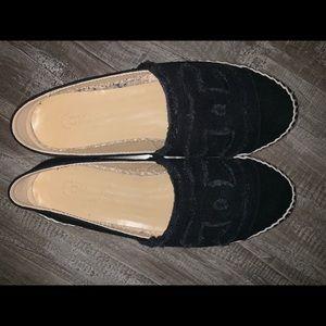 Black Canvas Chanel Espadrilles